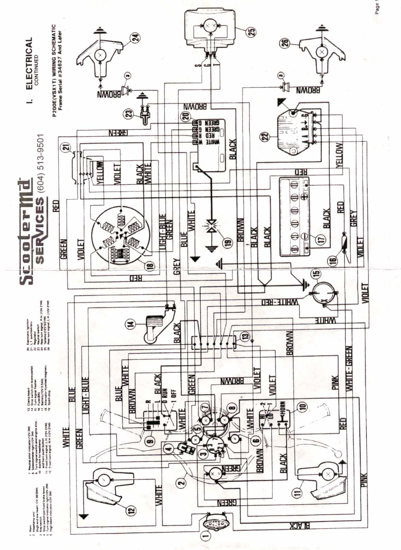 Wiring Diagram Vespa Free Vehicle Diagrams Velux P Series Maintenance Repair Rh Vespamaintenance Com Wlc 160 52 Control